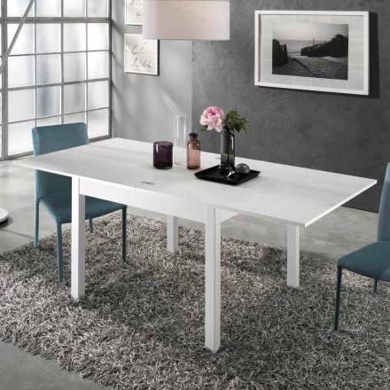 Uitschuifbare tafel tot 2 m vanaf 10 stoelen met modern design in hout - Tuttetto