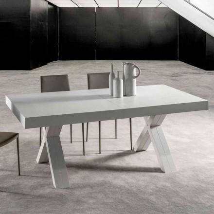 Uitschuifbare tafel met blad in gelamineerd hout - Atessa