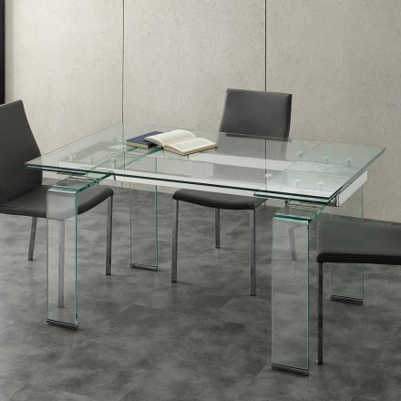 Uitbreiding van tafel met gehard glas Lord