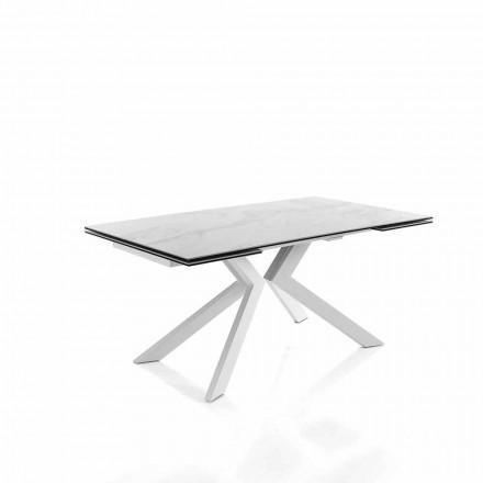 Moderne keuken uitschuifbare tafel in glaskeramiek - Vinicio