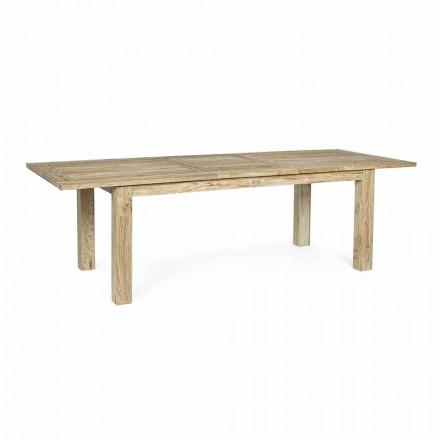 Uitschuifbare tuintafel tot 260 cm in hout, 8 zitplaatsen Homemotion - Gismondo