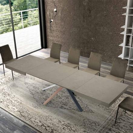 Uitschuifbare eettafel in modern designhout tot 3,1 m - Argentario