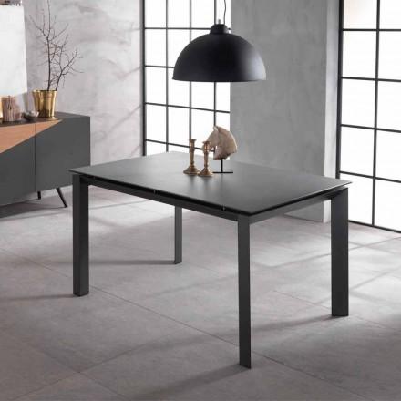 Uitschuifbare designtafel met keramische top en mdf, Nosate