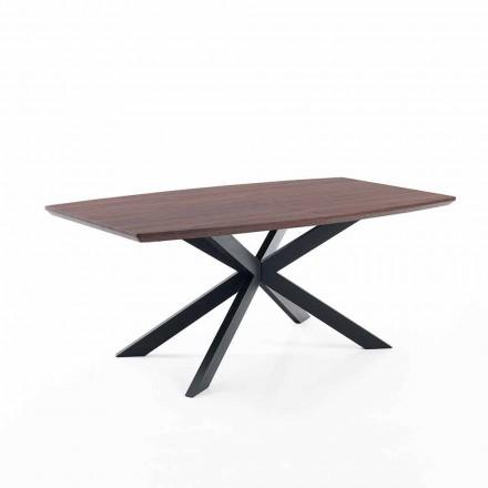 Ontwerp uitschuifbare tafel in Mdf en metaal - Torquato