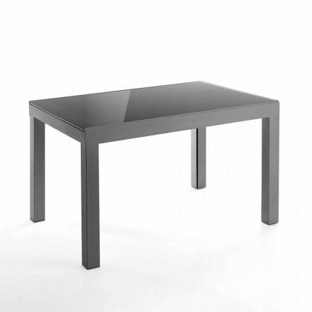 Design uitschuifbare tafel in glas en metaal - Guerriero