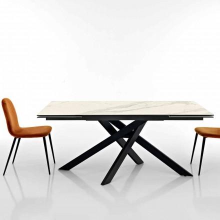 Uitschuifbare designtafel in glaskeramiek gemaakt in Italië, Dionigi