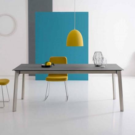 Design uitschuifbare tafel in aluminium, gemaakt in Italië - Arnara