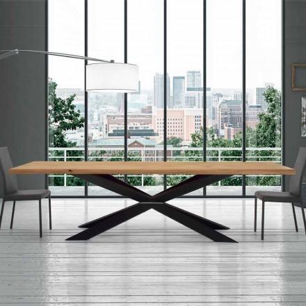 Uitschuifbare tafel tot 14 zitplaatsen in gefereerde tafel Made in Italy - Grotta