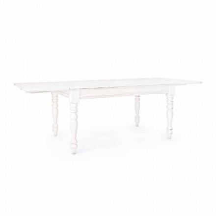 Klassieke uitschuifbare tafel tot 240 cm in mangohout Homemotion - Tongo