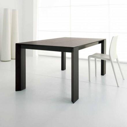 Uitschuifbare tafel tot 245 cm in Wengè eikenhout by Design - Ipanemo