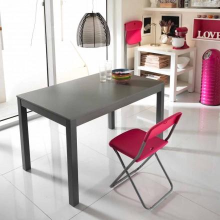 Uitschuifbare tafel in beukenhout gemaakt in Italië Tito