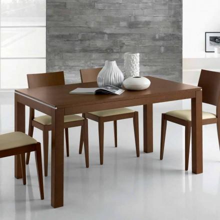 Uitschuifbare designtafel tot 350 cm in essenhout gemaakt in Italië - Ketla