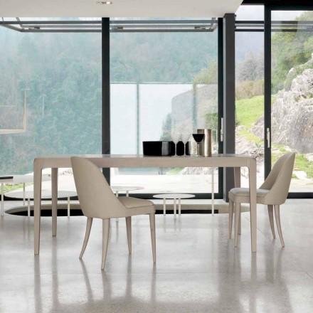 Tabel houten tafel walnoten natuur grijs modern design Matis