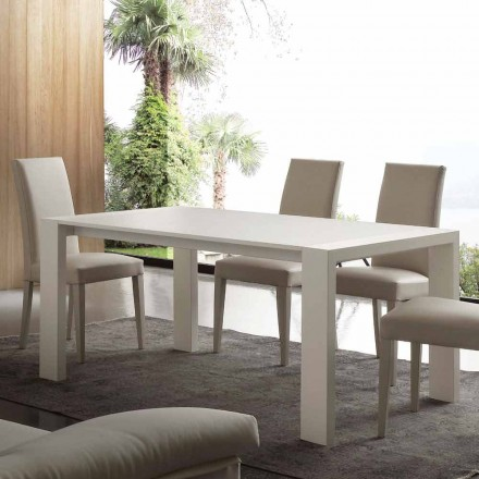 Uitschuifbare tafel in melamine MDF en modern Jesi
