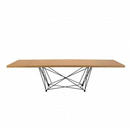Moderne uitschuifbare tafel 14 zitplaatsen met gelamineerd blad Gemaakt in Italië - Ezzellino