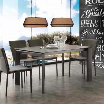 Modern uitschuifbare tafel met keramische top Philadelphia