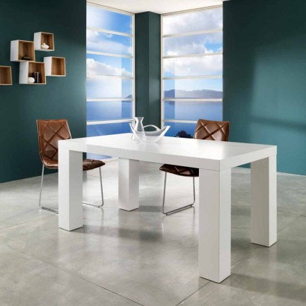 mat wit gelakt uitschuifbare tafel Recent Demy