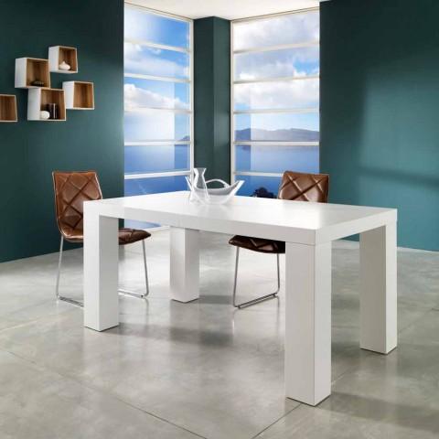 Design Salontafel Mat Wit.Mat Wit Gelakt Uitschuifbare Tafel Recent Demy