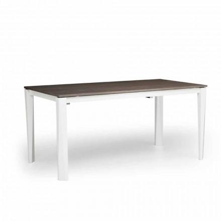 Moderne uitschuifbare tafel in witte as gemaakt in Italië, Medicina