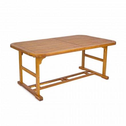 Uitschuifbare tafel tot 240 cm in tuinhout, van design - Roxen