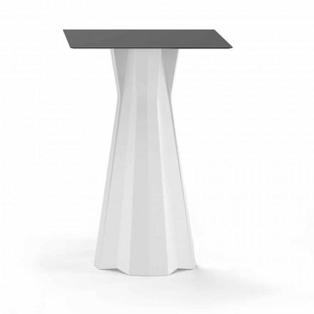 Hoge tafel met HPL-blad en polyethyleen onderstel Made in Italy - Tinuccia