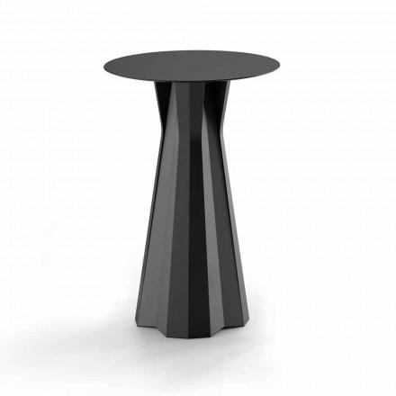Hoge polyethyleen tafel met rond HPL-blad gemaakt in Italië - Tinuccia