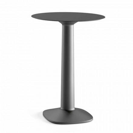 Ronde hoge tafel in polyethyleen met HPL-blad Made in Italy - Pito