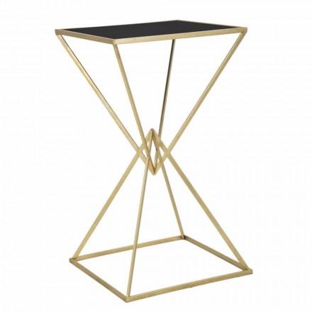 Modern design vierkante bartafel in ijzer en glas - Hily