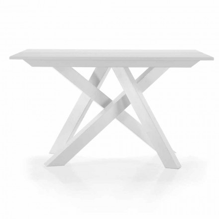Uitschuifbare tafelconsole tot 325 cm in melamine Made in Italy - Settimmio