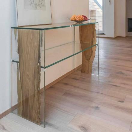 Console tafel in dolfijn houten en glazen Fenice in Venetië