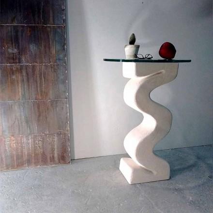 Ronde tafel in Vicenza Stone, handgemaakt door Babylas