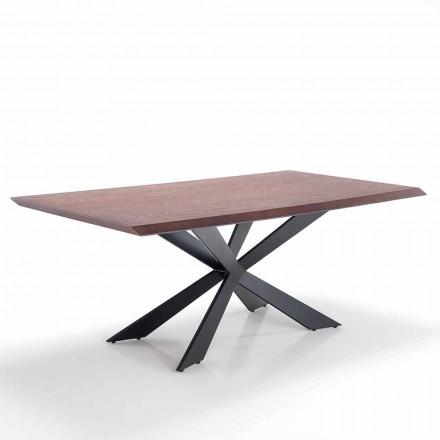 Eettafel met modern design in Mdf en metaal - Hoara