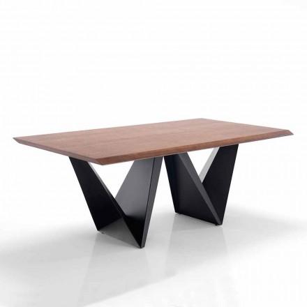 Eettafel met modern design in Mdf en metaal - Helene