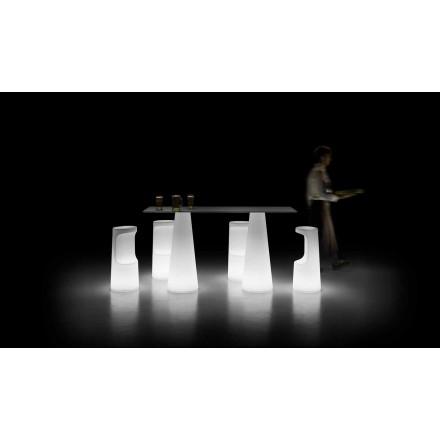Moderne buitenverlichtingstafel met LED-lichtvoet Made in Italy - Forlina