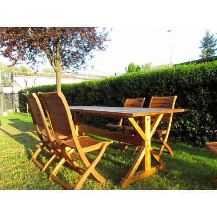 Rustieke stijl dennenhouten tafel Made in Italy - Clinio