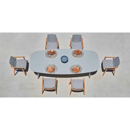 Varaschin Ellisse design buitentafel in gekleurd aluminium