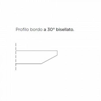 Barrel eettafel met gefineerd blad Made in Italy - Settimmio