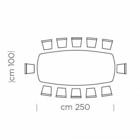 Barrel Eettafel in Fenix en Luxe Gemaakt in Italië Staal - Settimmio