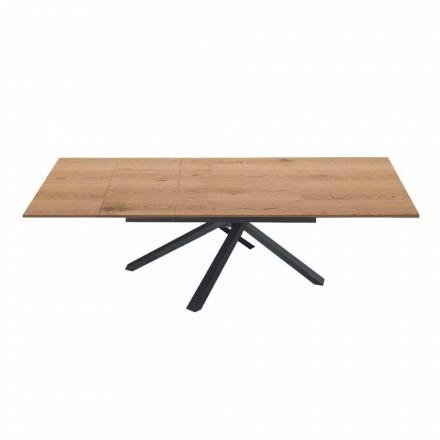 Uitschuifbare eettafel tot 260 cm in modern design hout - Gabicce