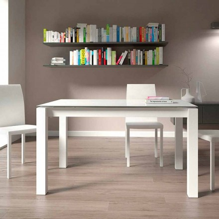 Uitschuifbare eettafel tot 220 cm Modern design Made in Italy - Minno