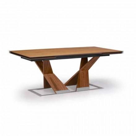 Uitschuifbare eettafel tot 294 cm in hout Made in Italy - Monique
