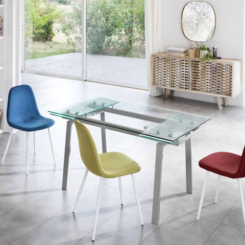 Moderne Eettafel Uitschuifbaar.Moderne Glazen Eettafel Uitschuifbaar W140 D80 Cm 200x Nardo