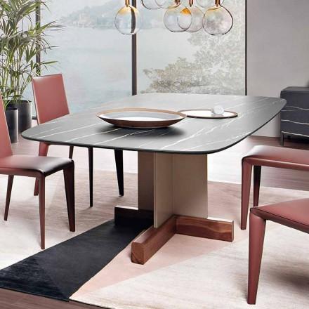 Eettafel met keramisch blad Made in Italy - Bonaldo Cross Table