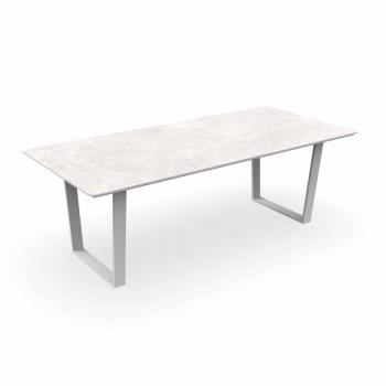 Aluminium en Gres moderne tuintafel - Alabama Alu Talenti