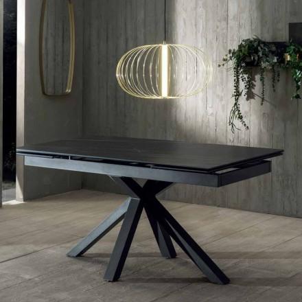 Uitschuifbare designtafel met keramisch blad tot 240 cm - Ultron