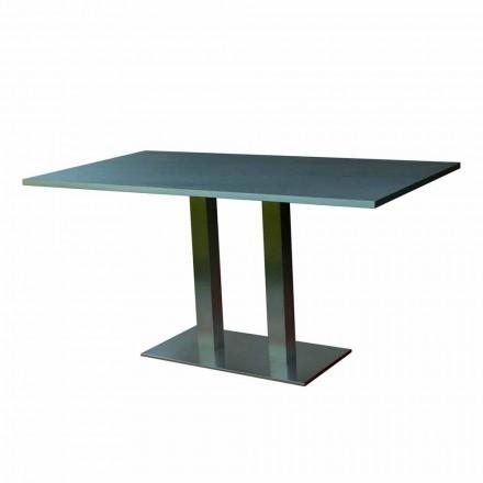 Design eettafel met gelamineerde stenen blad, 160x90cm, Newman