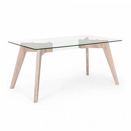 Homemotion Modern design eettafel met glazen blad - Piovra