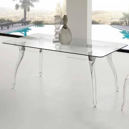 van modern design Eettafel met gehard glas top Jinny
