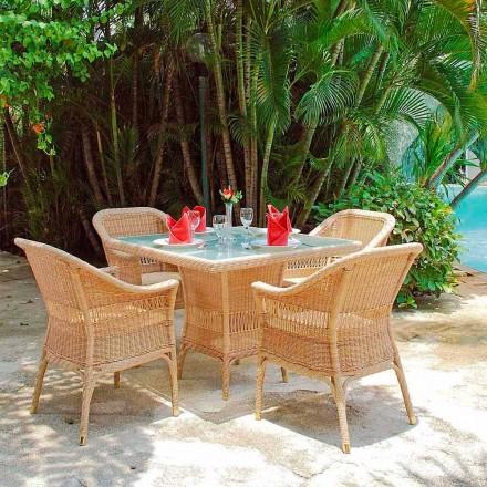 Table dining polyethyleen hand geweven Tsjaad