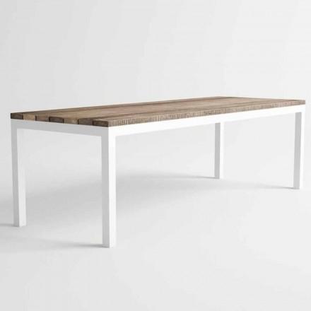Modern Design Outdoor houten en aluminium eettafel - Ganges